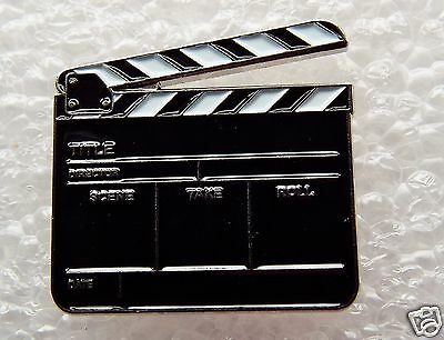 Film Clapperboard enamel pin / lapel badge Acting Drama Theatre Film TV DVD