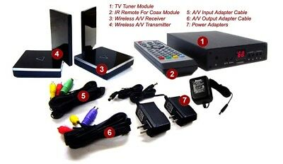 2.4Ghz Wireless Coax Cable TV Tuner System With IR Remote Extender