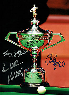 Ronnie O'SULLIVAN Multi Signed Autograph 16x12 SNOOKER Champions Photo AFTAL COA