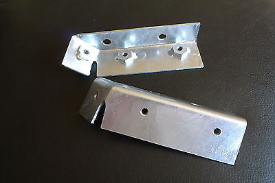 Galvanized Wing Mounting Brackets 338652 & 338653 for Land Rover Series 2 & 2a