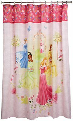 Disney Princess Shower Curtain Features 4 Princesses 70in X 72in