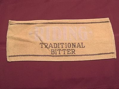 RIDING TRADITIONAL BITTER ENGLAND ENGLISH VINTAGE BEER BAR TOWEL MAT-RARE