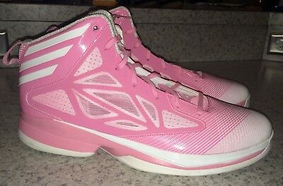 online store 5dc6a 0ff0b ADIDAS AS SMU Crazy Fast Pink White Basketball Shoes Sneakers NEW Mens 13.5