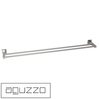 Bathroom 900mm Quadro Double Towel Rail Stainless Steel