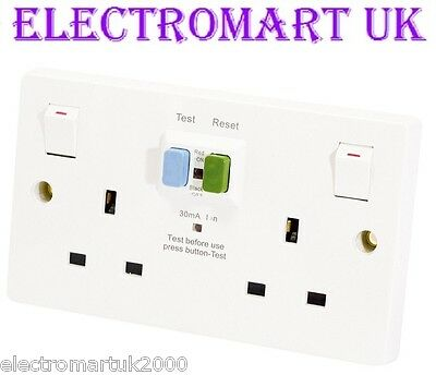 Rcd 2 Gang Double Twin Switched 13 Amp Socket Outlet