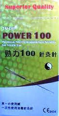Power 100 acupuncture needles.  With guide tubes, various sizes.