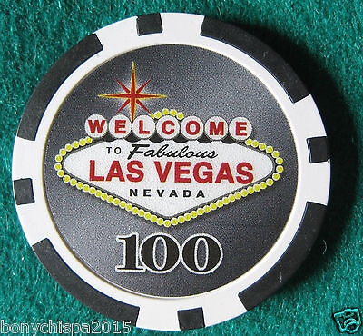 """WELCOME TO LAS VEGAS Nevada"" poker chip 100  (#13/17)"