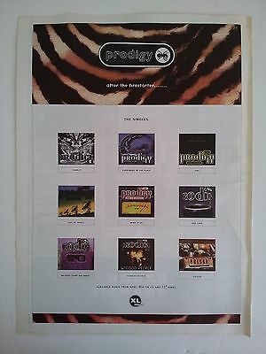 """Prodigy """"After The Firestater"""" 1996 Trade Press Advert Poster Size"""