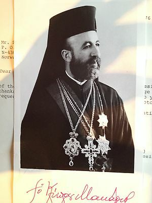 Bishop Makarios of Cyprus signed picture!