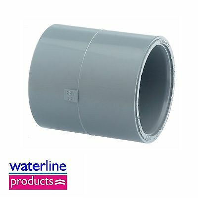 Socket Plain Solvent Cement Grey uPVC Pipe Fitting