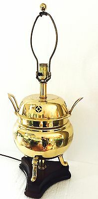 Frederick Cooper Asian Etched Brass Chinoiserie Urn Table Lamp