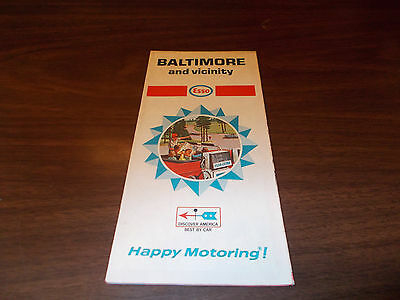 1968 Esso Baltimore and Vicinity Vintage Road Map