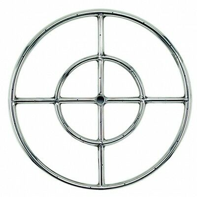 "American Fireglass 18"" Stainless Steel Fire Pit Ring Burner SS-FR-18"