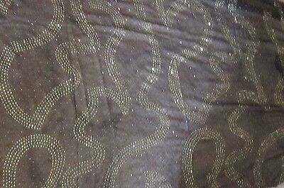 Beautiful black sheer fabric with golden coppery sparkle detail romantic chic