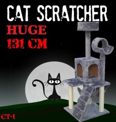 Deluxe Cat Scratcher Scratching Post Scratch Pole Tree House Multi Level Durable