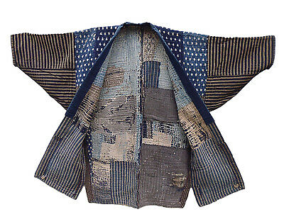 Japanese Antiques-Indigo Boro Tsugihagi (Patch worked) Jacket
