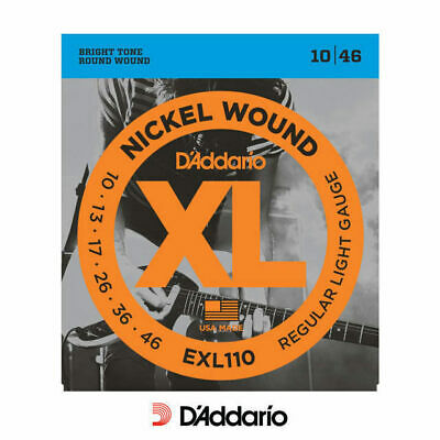 D'addario EXL110 Regular 10-46 Electric Guitar Strings Nickel Wound 10-46