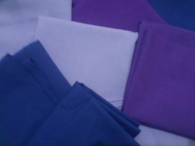 Poplin Fabric Purple Remnants Polycotton Poly Cotton Polyester Fabric Sewing