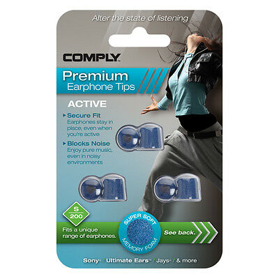 Comply Foam EarTips Active S-200 - 3 pairs -The UK's Only Authorized Distributor