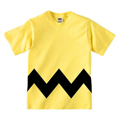 "Divertente t-shirt bambino con stampa ""Charlie Brown Style"", Peanuts inspired"