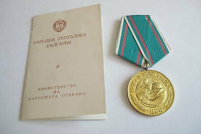 Bulgaria Medal 30 Years Victory WW2 Officer Soviet DOC