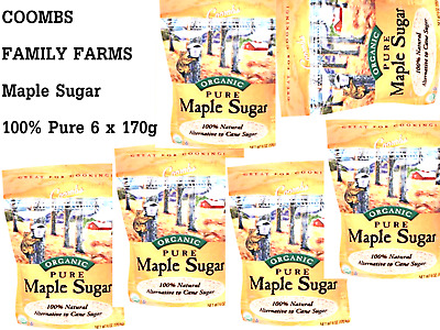 6 x 170g COOMBS FAMILY FARMS Maple Sugar ( 100% Pure )