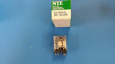 (1 Pc) R14-11D10-24 Nte Power Relay Dpdt 24Vdc 10A Plug In