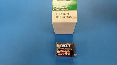 (1 PC) R16-11D5-24 NTE Electromechanical Relay 24VDC 700Ohm 5A DPDT Plug-In