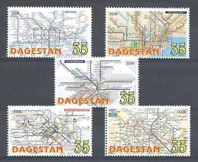 (012939) Map, Cities, Dagestan - private issue -