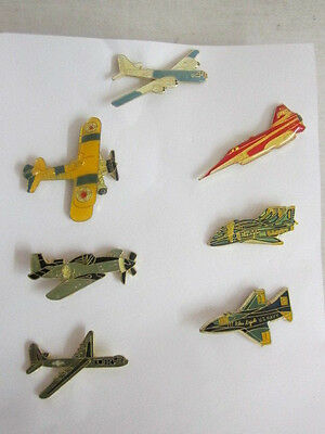 7 AIRPLANES FIGHTERS AND BOMBERS ENAMEL PINS