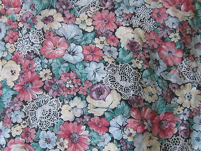 Beautiful floral flowers semi sheer fabric with lace design romantic material