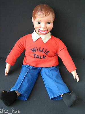 "Vintage 24"" WILLIE TALK Ventritoquist Doll/Puppet Dummy by Horsman Doll 60'-70'"