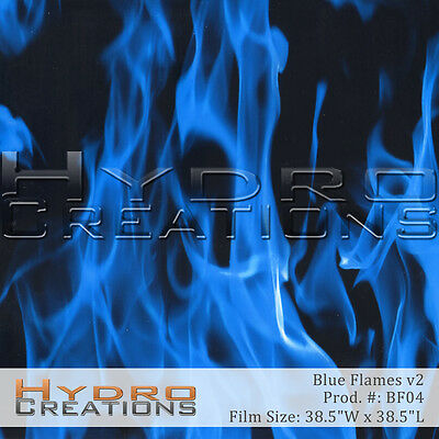 Hydrographic Film For Hydro Dipping Water Transfer Film Blue Flames V2