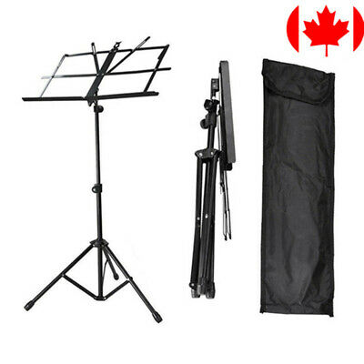 Adjustable Folding Sheet Music Stand Score Holder Mount Tripod Carrying Bag