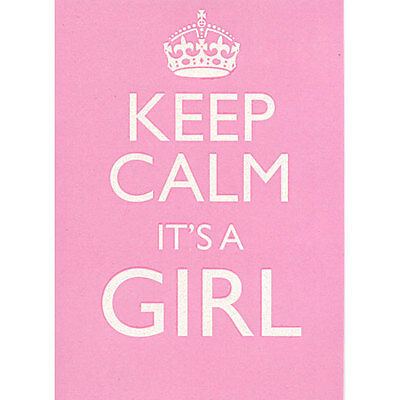 Keep Calm And Its It's A Girl New Pink Canvas Ready To Hang