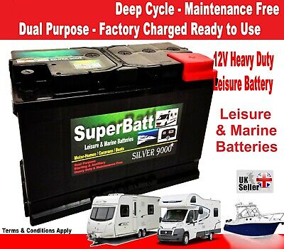 Deep Cycle Leisure Battery 12V 110AH SB LH110 Caravan Motorhome Marine Boat