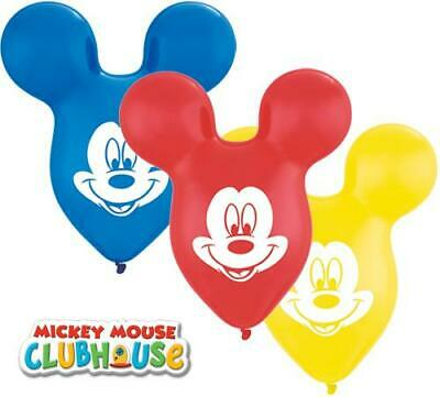 "Mickey Mouse Head/Ears Shaped 15"" Qualatex Latex Balloons x 25"