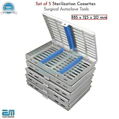 Dental Sterilization Cassette Tray Holds 10 Dental Surgical Instruments Smile