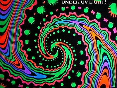 UV Backdrop MADE TO ORDER! psychedelic fractal art/wall hanging fluro dj poster