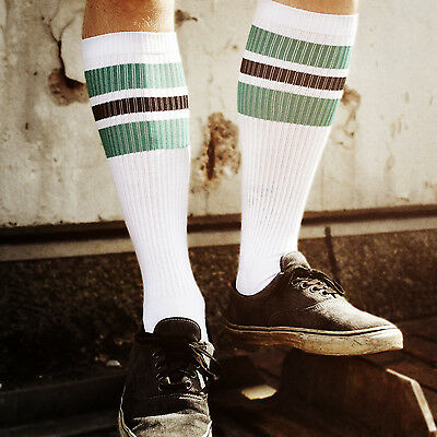 Oldschoolsocks by Spirit of 76 | the green Blacks on white Hi | Skatersocks