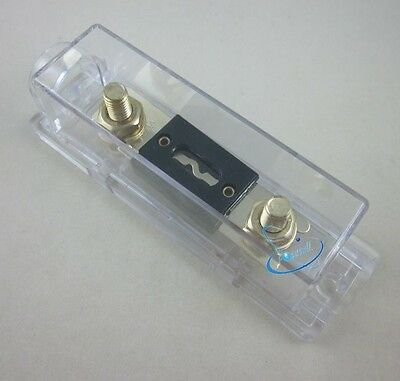 Car Auto Stereo Audio Inline ANL Holder 0 2 4 Gauge+200A Amp Gold Plated Fuse
