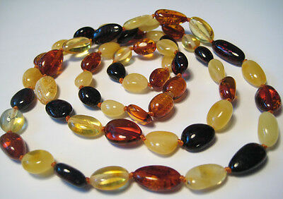 """Real  BALTIC  AMBER Necklace  67cm, 26.3"""""""