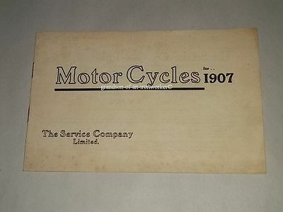 1907 Service Company Ltd. Motorcycle catalog brochure book motorcycles booklet