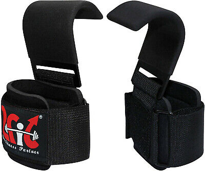2Fit Weight Lifting Hooks Training Gym Exercis Gripper Lift Wrist Support Strap