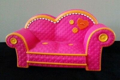 "Lalaloopsy Couch Sofa Pink 11"" L Full Size Furniture  Great Condition"