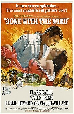 Gone with the Wind - 11x17 inch Vintage Film / Movie Poster