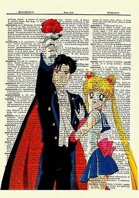 Sailor Moon Anime Dictionary Art Print Poster Picture Manga Book Tuxedo Mask