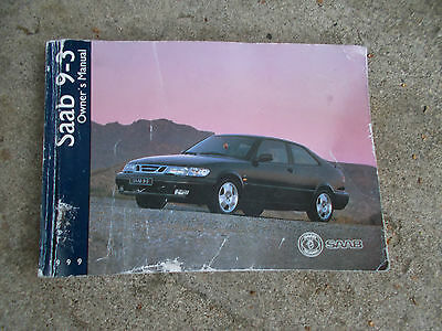 Saab 93 9-3 Hatchback Models 1998 - 2002 Oners Manual / Hand Book
