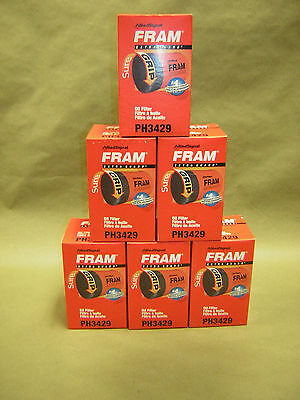 6 pack  Fram PH 3429 Extra Guard Oil Filter NEW   Pontiac, Oldsmobile,Cadillac