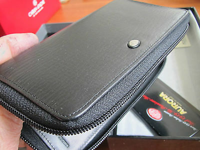 Aurora Torino black three-pen case-pouch